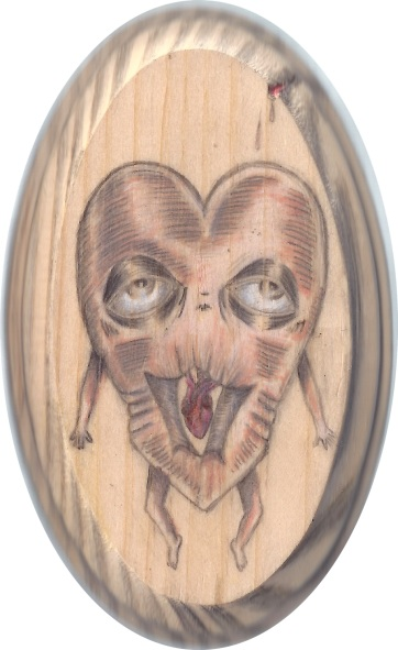 starved-for-affection-front-3x5in-oval-pencil-varnish-on-wood